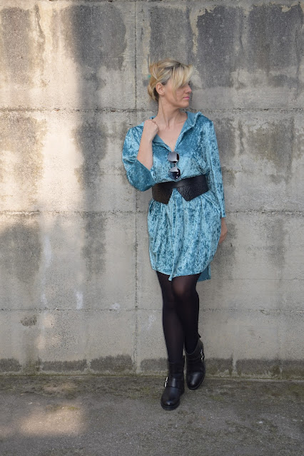 shirt dress outfit how to wear shirt dress shirt dress street style mariafelicia magno fashion bloggers italy italian fashion bloggers march outfits