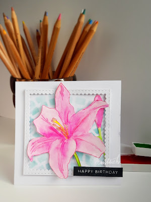 clean and simple card, cards for women, quillish, Uniko Ltd