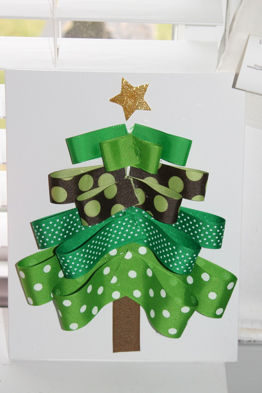 Holiday Crafting For Moms Ribbon Tree And Joy Letters The