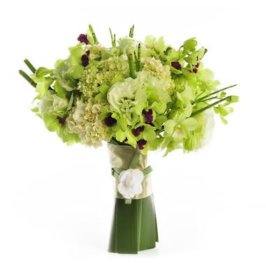 Ramo de novia con verde