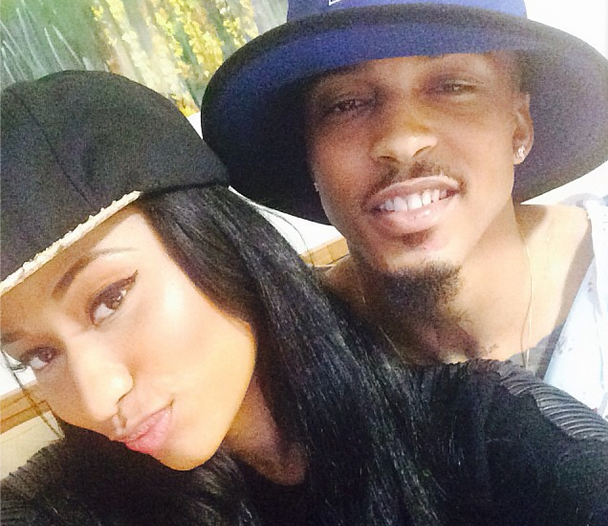 August Alsina and Nicki Minaj at the hospital