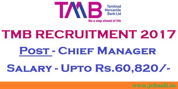 TMB Careers, Bank Vacancies 2017, TMB Recruitment 2017