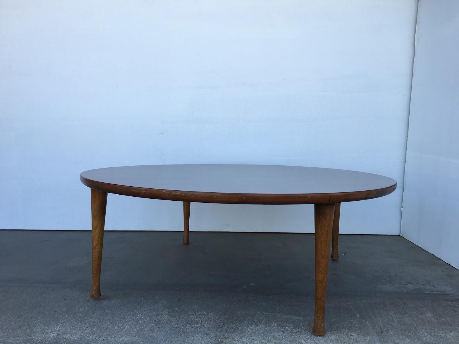 SKU #2050 - Mid Century Modern Round Coffee Table   Vintage Mid ...