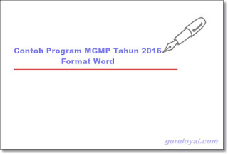 Contoh Program MGMP Tahun 2016 Format Word