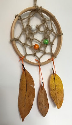 Dream catcher made with Autumn natural materials