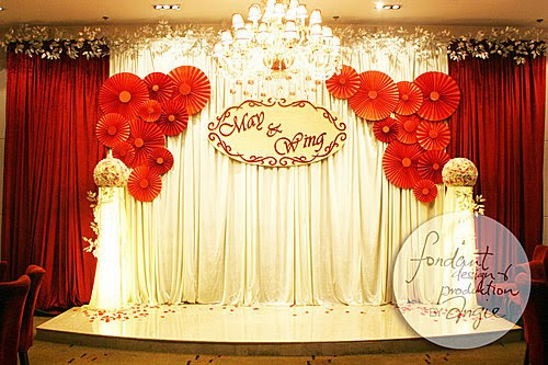 Wedding Decoration - Paper rosettes flowers @La Dynastie Restaurant