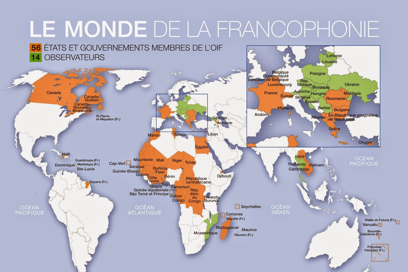 Map Of Asia In French.Map Of French Speaking Countries Free Printable Maps