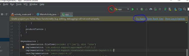 cara mudah mengatasi Unable to resolve dependency di android studio