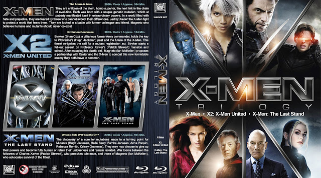 X-Men: Trilogy (X-Men / X2: X-Men United / X-Men: The Last Stand) Bluray Cover
