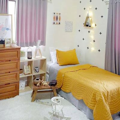 gambar desain kamar tidur anak ukuran kecil