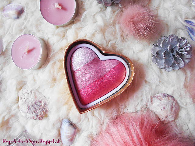 Makeup Revolution London I Heart Makeup Blushing Hearts recenzia