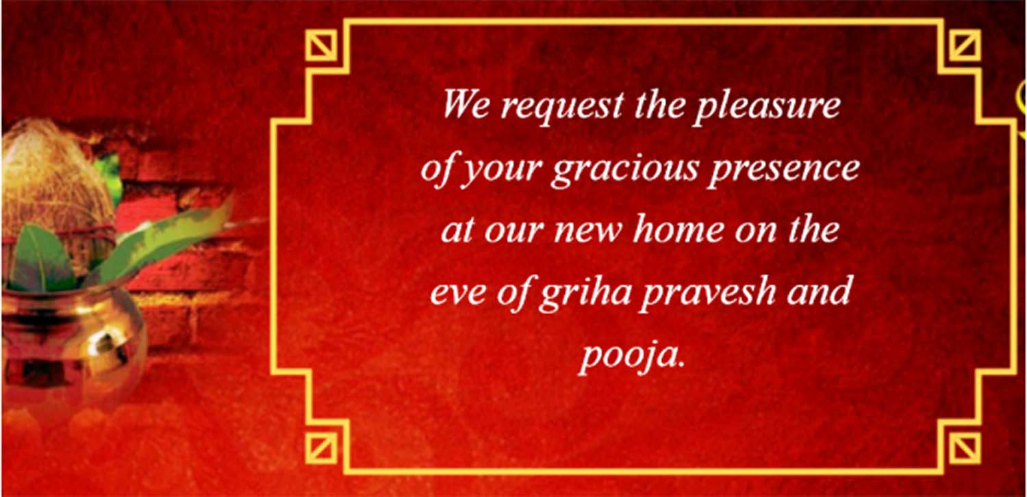 Griha pravesh invitation indian house warming ceremony invitation housewarming invitation ideas stopboris Choice Image