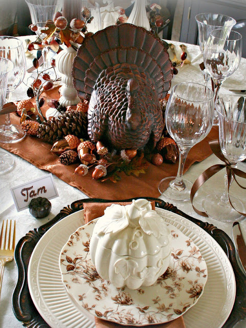 Modern furniture design thanksgiving table settings - Thanksgiving dinner table decorations ...