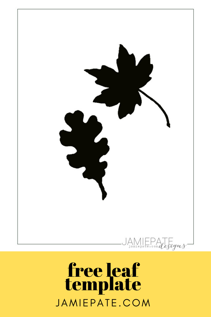 Free leaf template and printable for autumn scrapbook cut files or home diy fall wreaths