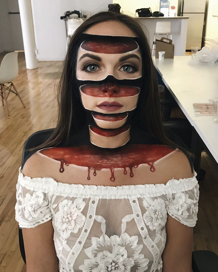 #1 - Woman Gives Up Teaching To Create Optical Illusions With Makeup, And It's Messing With Our Minds