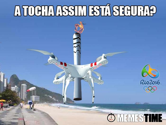 Memes Time  Tocha Olímpica Rio 2016 – A Tocha assim está Segura?