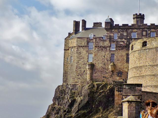 View over Edinburgh castle