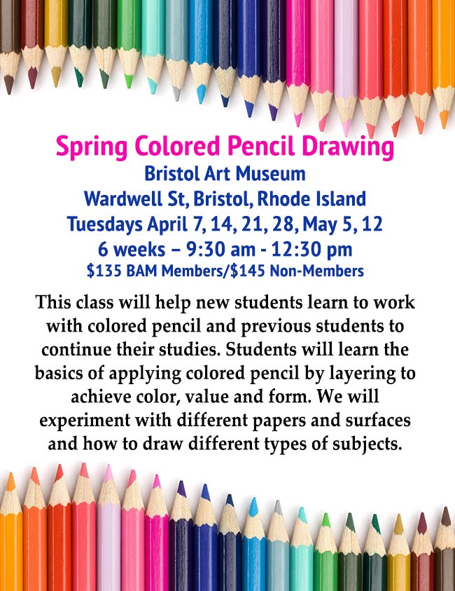Upcoming Colored Pencil Class