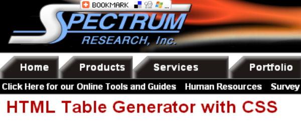 css tabel generator 4