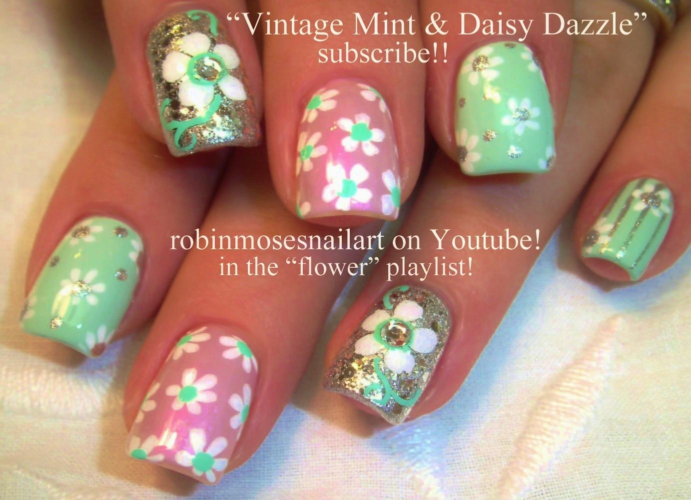 Nail Art by Robin Moses: 42 Daisy Nail Art Designs in my New Daisies ...