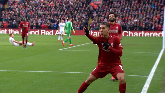 Liverpool FC Roberto Firmino Celebrates Vs  Burnley