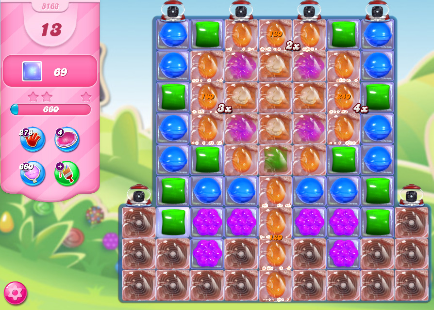 Candy Crush Saga level 3163