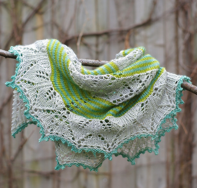 Germinate Shawl - Red Pepper Quilts