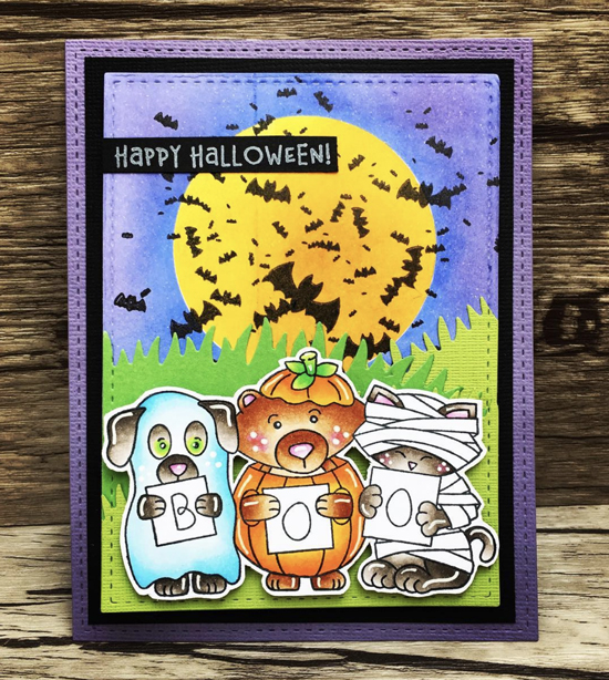 Halloween card by Juliana Michaels | Halloween Trio Stamp Set by Newton's Nook Designs #newtonsnook #handmade