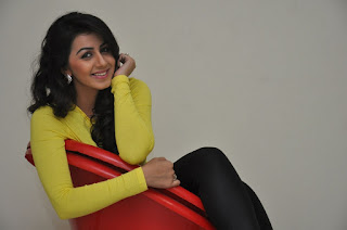 Actress Nikki Galrani Latest Picture Gallery in Yellow Top and Tights  0060