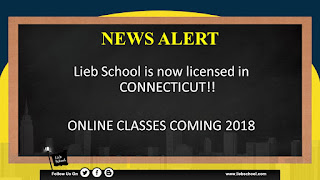 Lieb School Now Licensed In Connecticut | ONLINE License Renewal Package Coming 2018