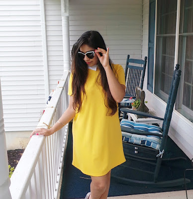 Summer look - Yellow dress