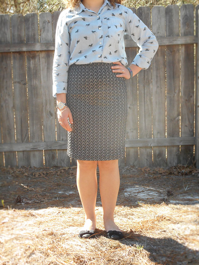 two ways to wear a black and white pencil skirt coupon code outfit remix inspiration