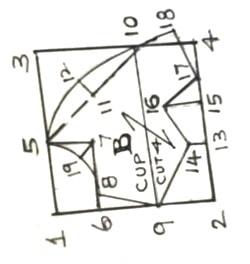 Katori Cup Part Cut-4 pieces