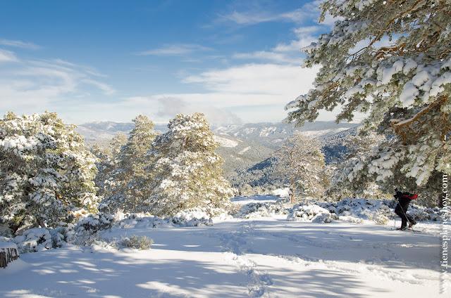 Ruta senderismo raquetas nieve planes madrid sierra