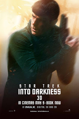 Star Trek Into Darkness Character Portrait Theatrical One Sheet Movie Poster Set - Zachary Quinto as Spock