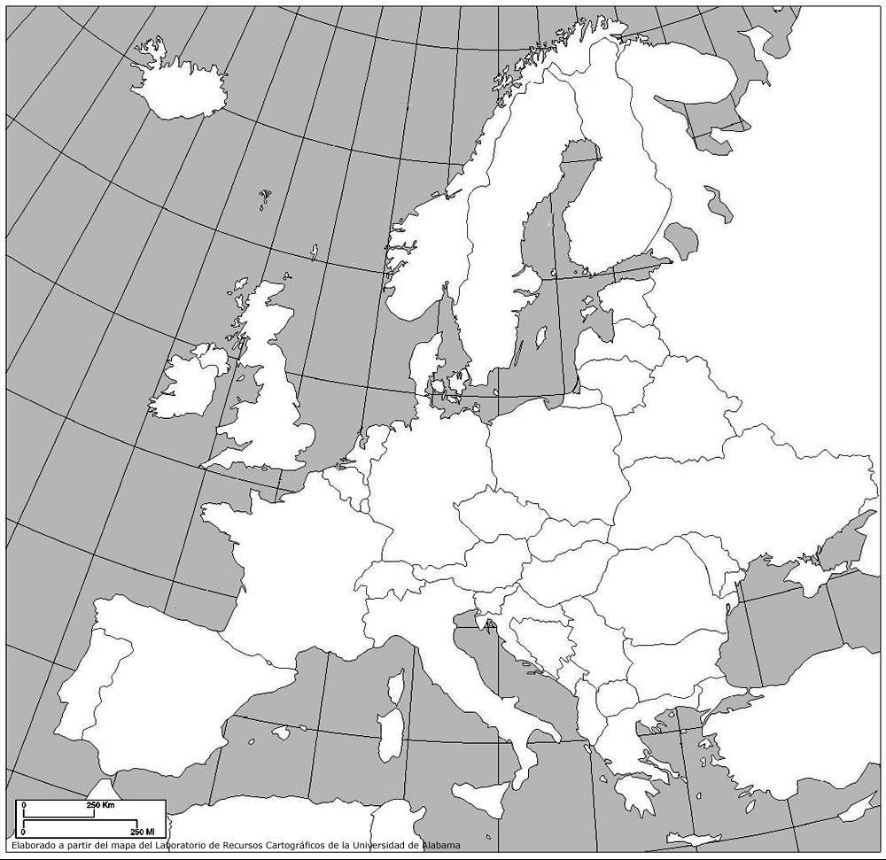 Mapa Fisico De Europa Para Imprimir Imagui