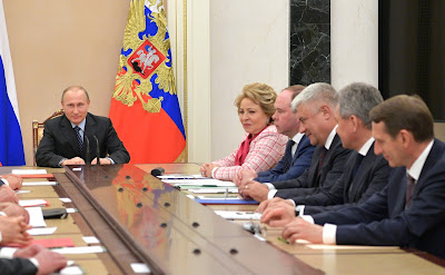 Vladimir Putin meeting with permanent members of Security Council.
