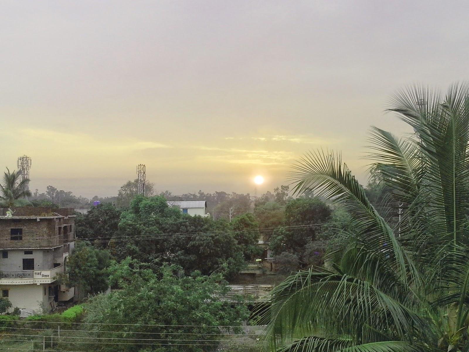 sunrise at nanded near sggsie&t collage vishnupuri nanded