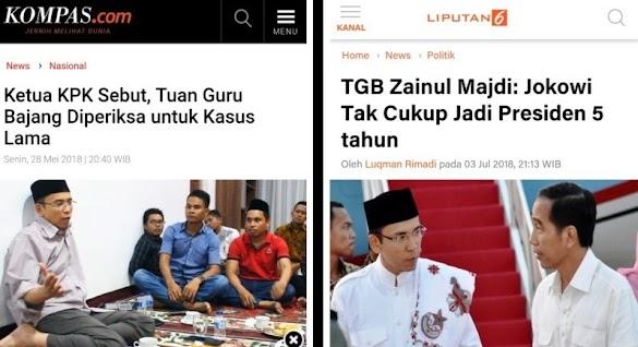 Dukung Jokowi 2 Periode karena Terkait Pemeriksaan KPK? Begini Jawaban TGB