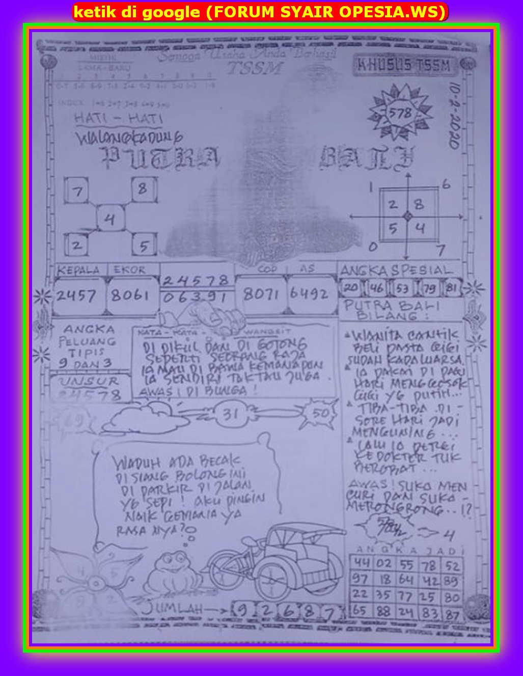 Kode syair Hongkong Senin 10 Februari 2020 77