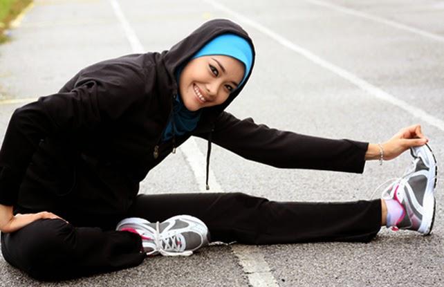 Hasil gambar untuk muslimah yang malas berolahraga