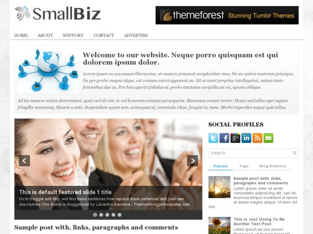 SmallBiz Blogger Template
