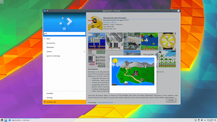 KDE Plasma 5.8.1 LTS