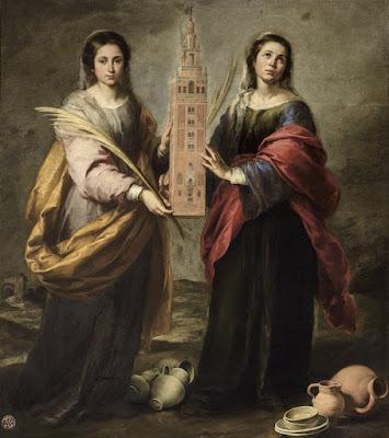 Santas Justa y Rufina - 1666 - Murillo - Museo de Bellas Artes de Sevilla