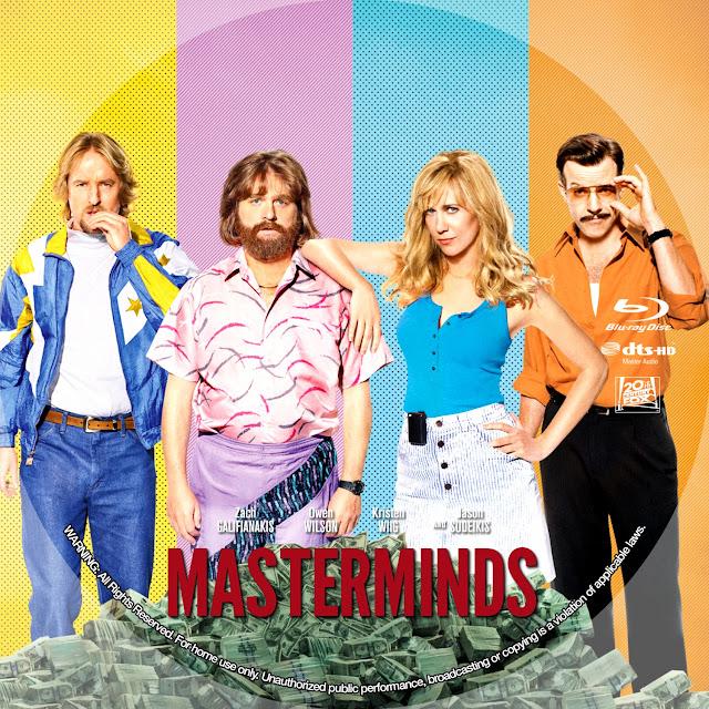 Masterminds Bluray Label