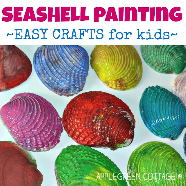 Seashell Painting Crafts For Kids Applegreen Cottage