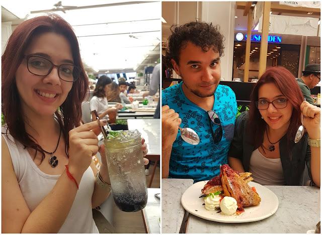 Soda italiana e sobremesa do restaurante Salt//Pepper do Siam Paragon.