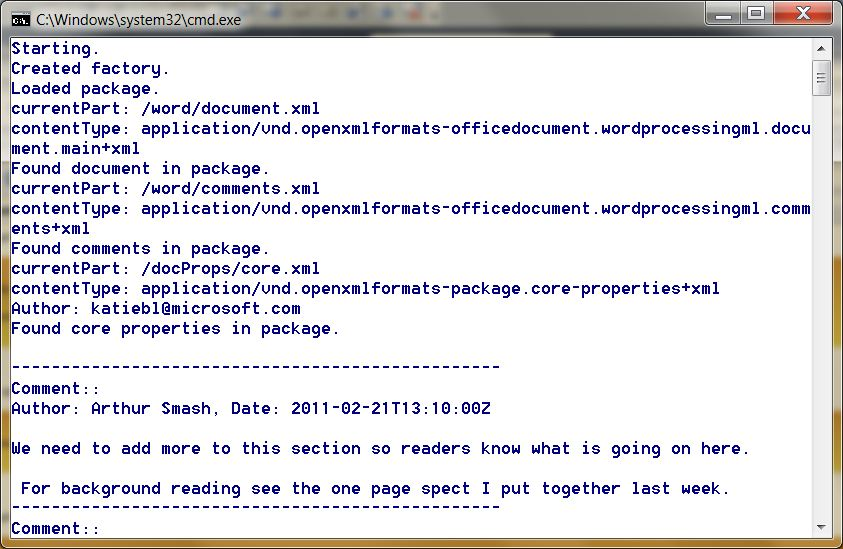 TravelMarx C++ Console Application to Get Comments from a Microsoft