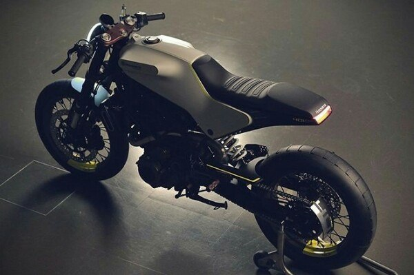 Husqvarna 401 White Arrow Cafe racer 3
