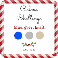 52 CCT Colour challenge - blue, grey, kraft